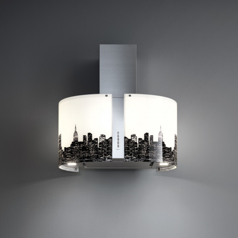 FALMEC MIRABILIA NEW YORK glass (Round 67 wall) for AU$899.00 at ComplexKitchen.com.au