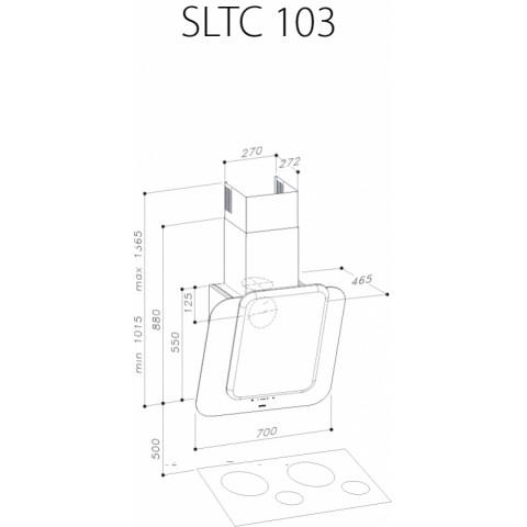 SIRIUS SLTC 103 black glass silver ceramic front panel for AU$2,249.00 at ComplexKitchen.com.au